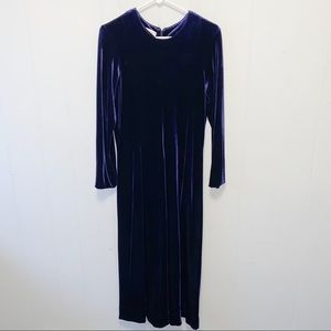 Talbots Vintage Velvet Purple Maxi Dress